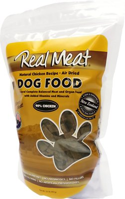 The Real Meat Company 90% Chicken Grain-Free Air-Dried Dog Food, 2-lb bag