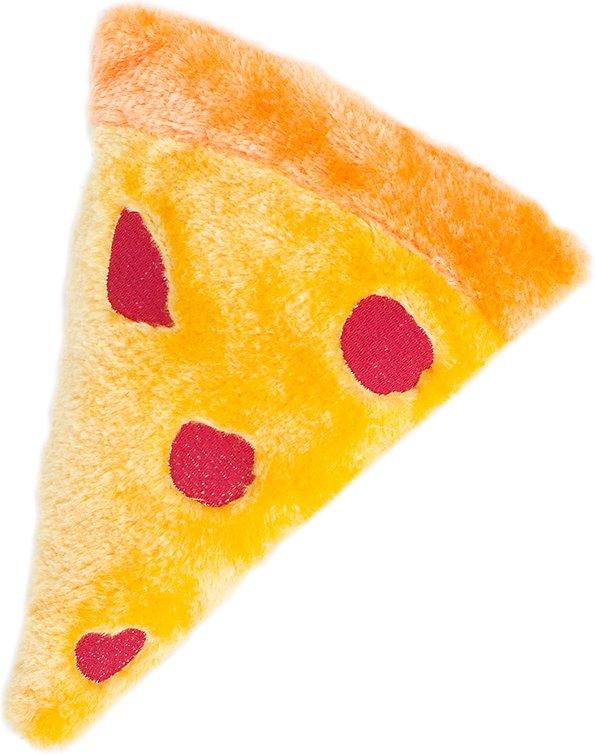 ZippyPaws Emojiz Squeaky Plush Dog Toy, Pizza