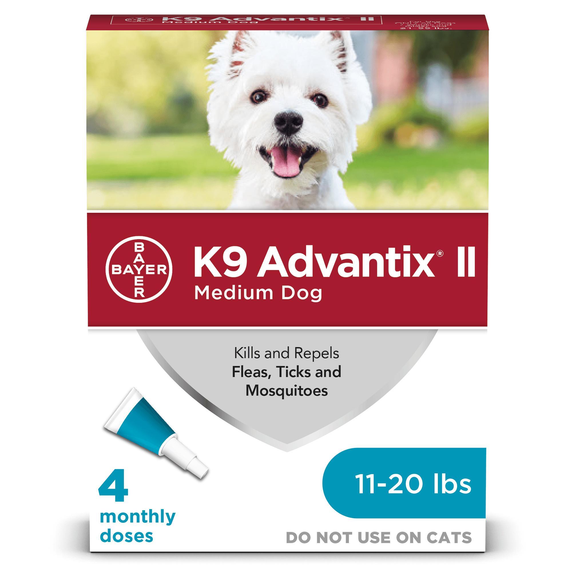 K9 Advantix II Flea & Tick Treatment for Medium Dogs 11-20 lbs, 4-pack