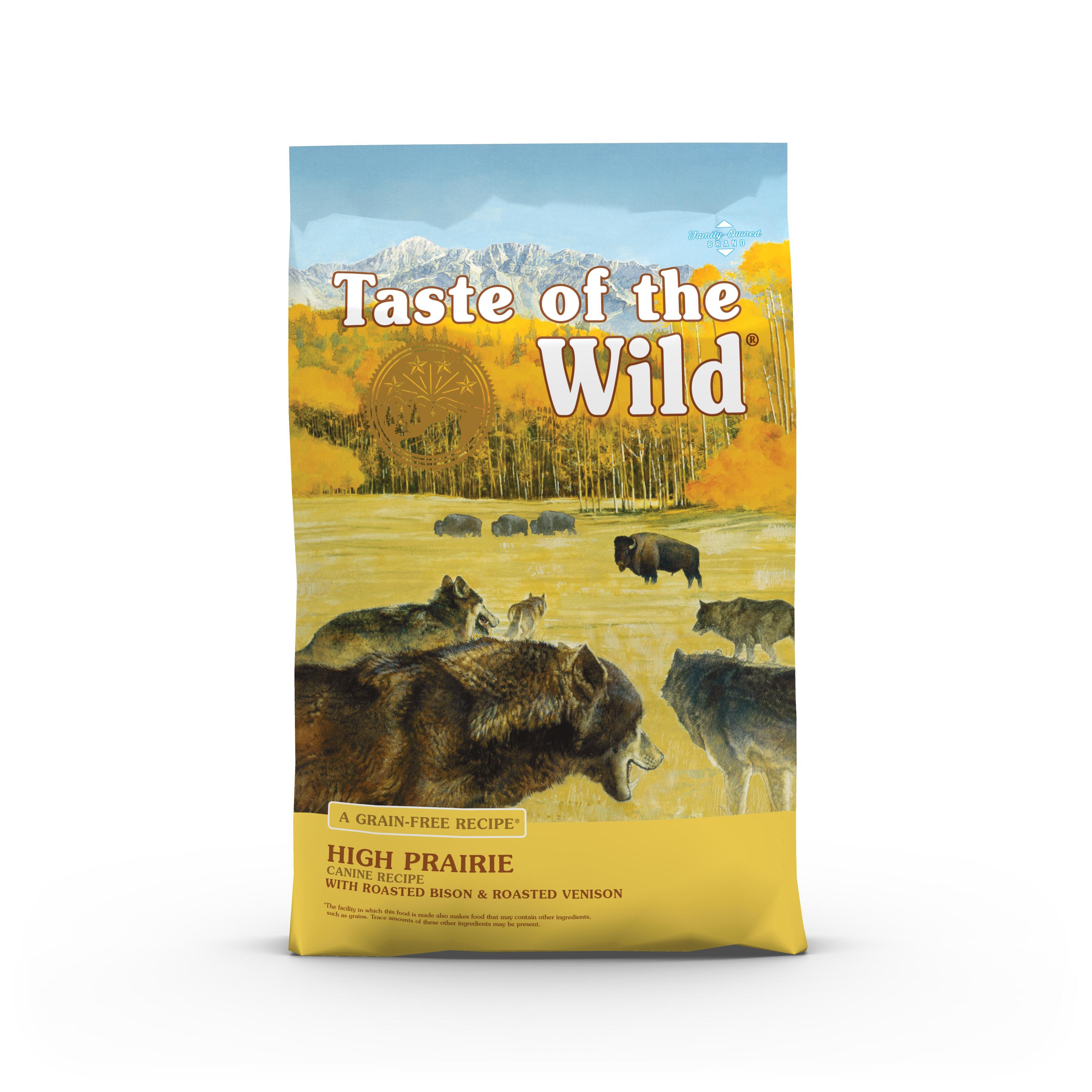 Taste of the Wild High Prairie Grain-Free Dry Dog Food, 14-lb