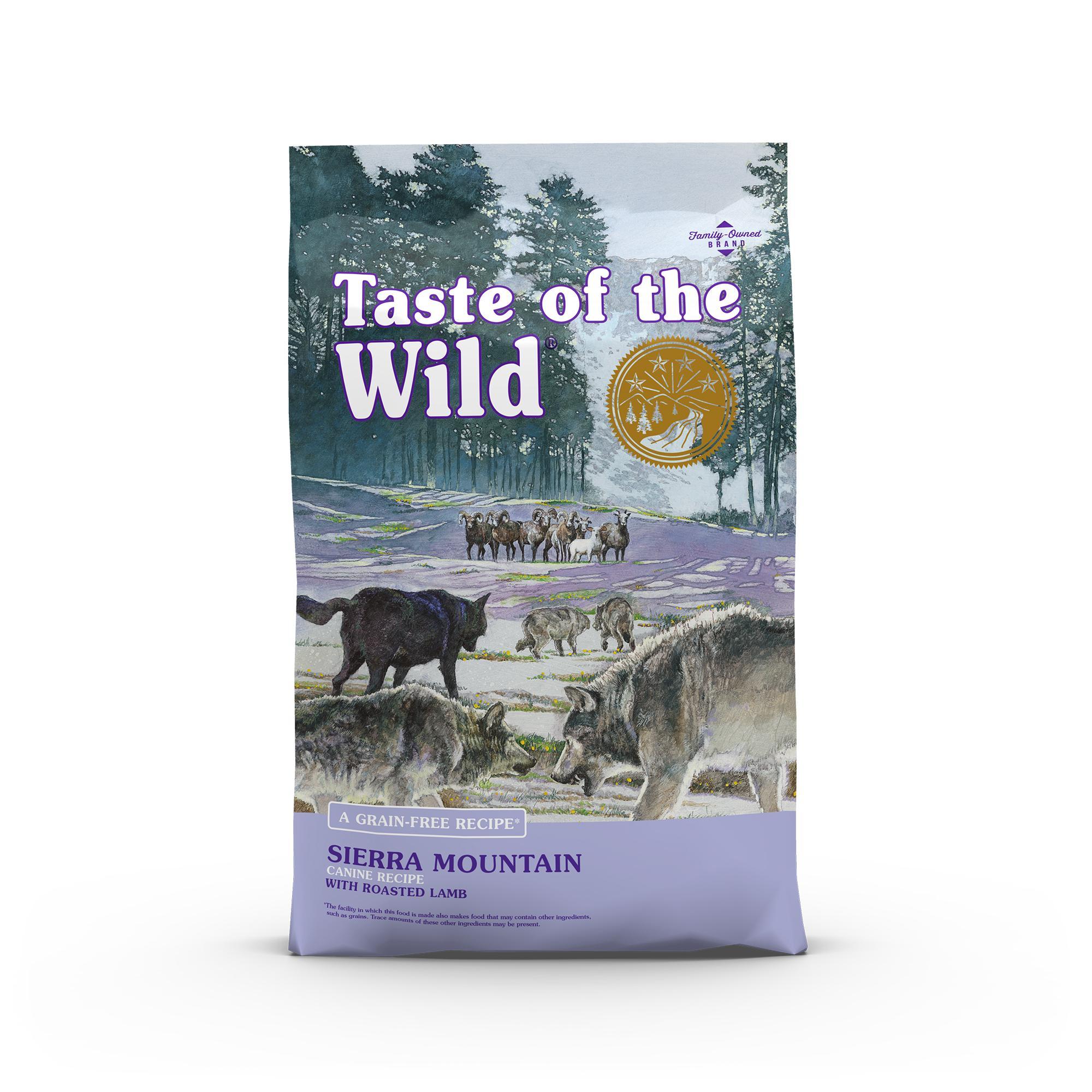 Taste of the Wild Sierra Mountain Grain-Free Dry Dog Food, 14-lb