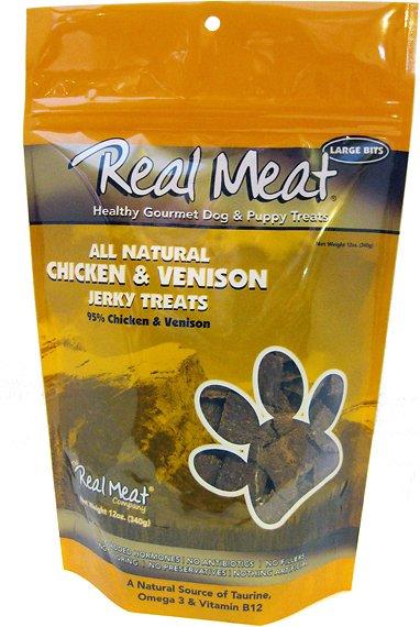 The Real Meat Company 95% Chicken & Venison Jerky Bitz Dog Treats Image