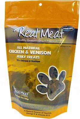 The Real Meat Company 95% Chicken & Venison Jerky Bitz Dog Treats, 12-oz bag