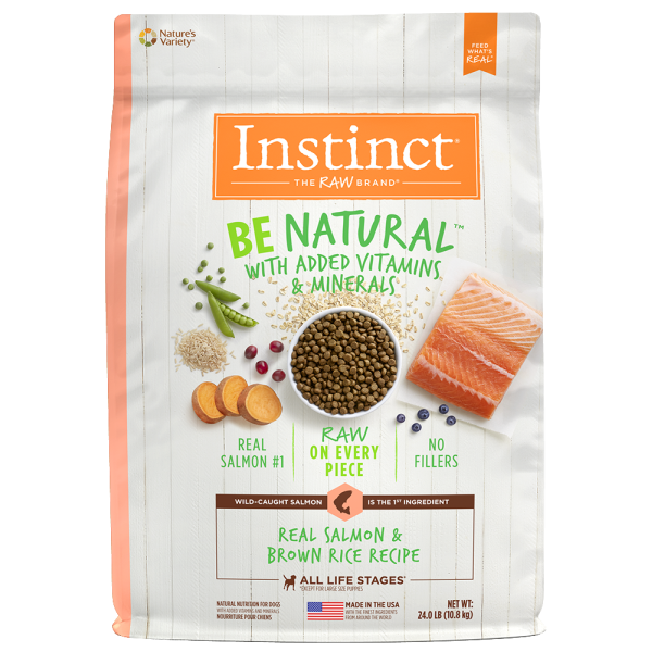 Instinct by Nature's Variety Be Natural Real Salmon & Brown Rice Recipe Dry Dog Food, 25-lb (Size: 25-lb) Image