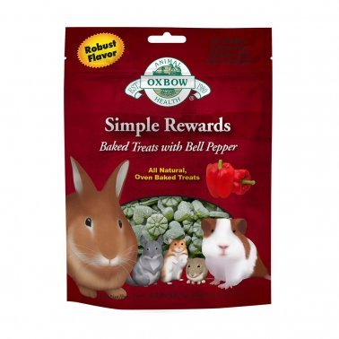 Oxbow Simple Rewards Bell Pepper Baked Treat, 3-oz (Size: 3-oz) Image