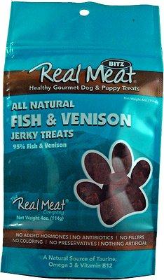 The Real Meat Company 95% Fish & Venison Jerky Bitz Dog Treats, 4-oz bag