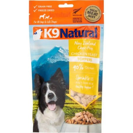K9 Natural Chicken Feast Grain-Free Freeze-Dried Dog Food Topper, 3.5-oz
