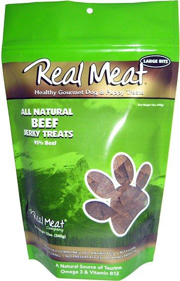 The Real Meat Company 95% Beef Jerky Bitz Dog Treats Image