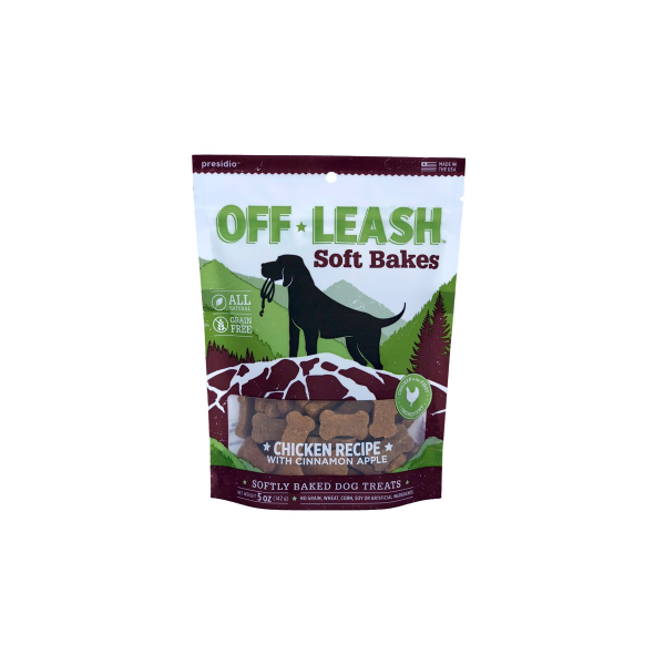 Presidio Off Leash GF Soft Bakes Chicken Dog Treats, 150-grams