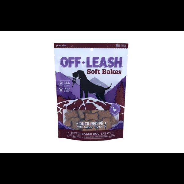Presidio Off Leash GF Soft Bakes Duck with Sweet Potato Dog Treats, 150-grams