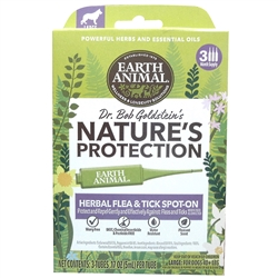 Earth Animal Nature's Protection Flea & Tick Prevention Herbal Spot-On for Dogs Image