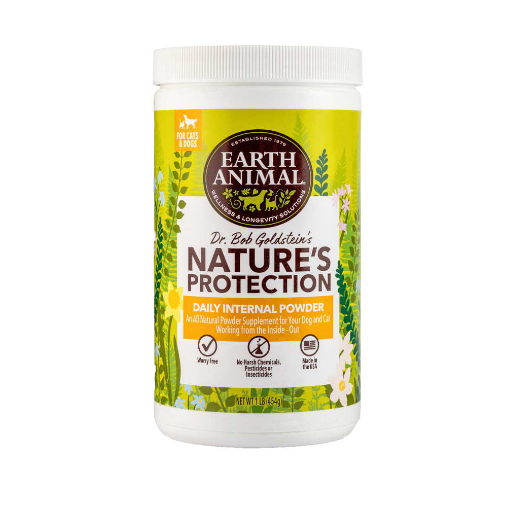 Earth Animal Nature's Protection Flea & Tick Prevention Daily Internal Powder for Dogs & Cats, 16-oz
