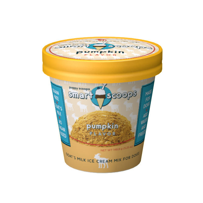 Puppy Cake Smart Scoops Goat's Milk Ice Cream Mix - Pumpkin Dog Treats, 6-oz