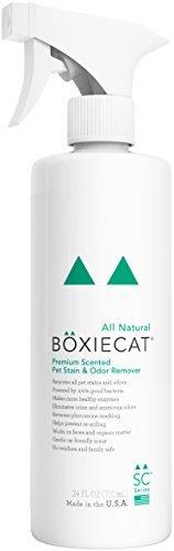 Boxiecat Cat Premium Scented Pet Stain & Odor Remover, 24-oz