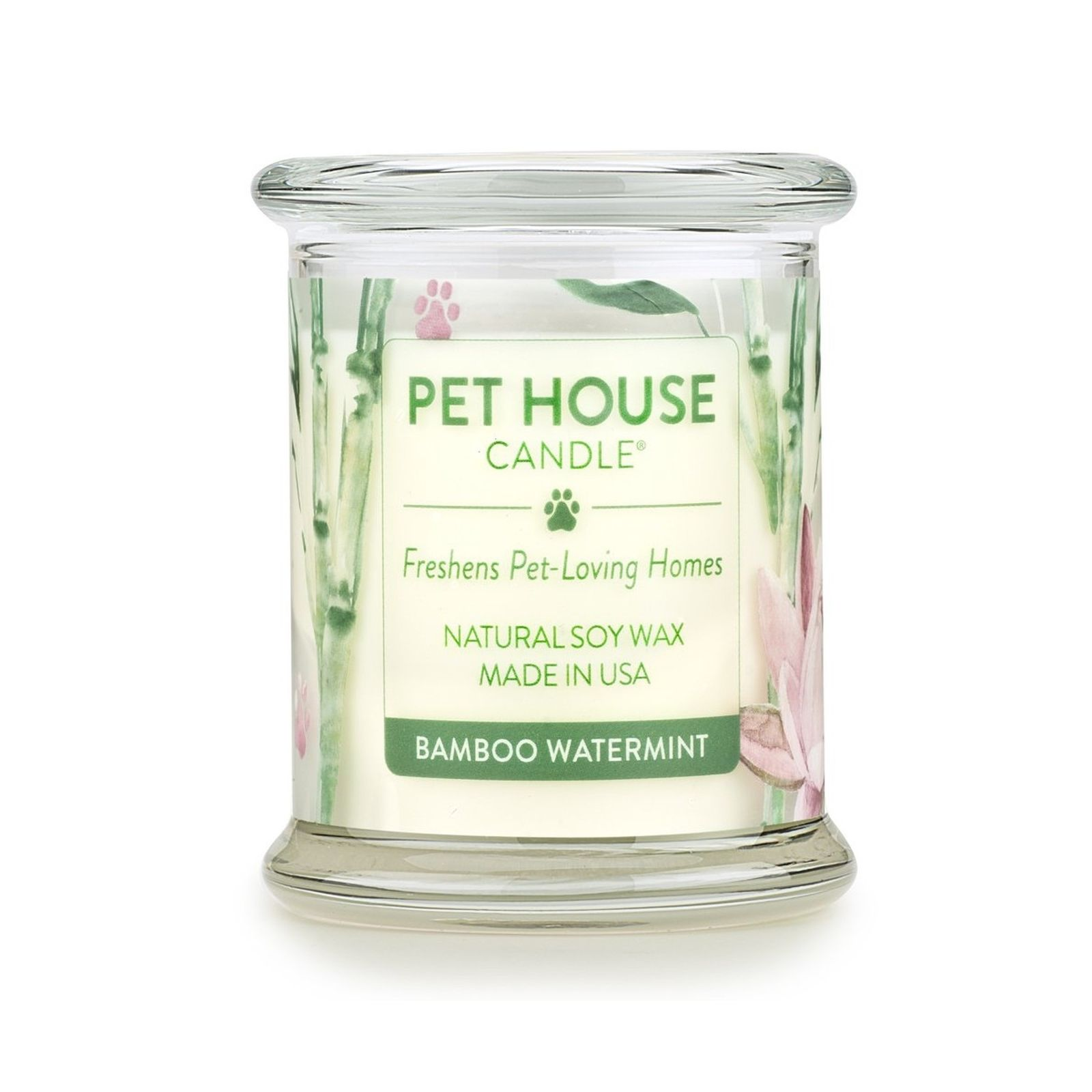 One Fur All Pet House Candle - Bamboo Watermint , 8.5-oz