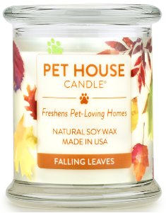 One Fur All Pet House Candle - Falling Leaves, 8.5-oz