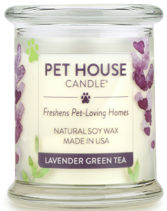 One Fur All Pet House Candle - Lavender Green Tea, 8.5-oz