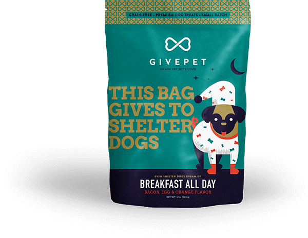 GivePet Breakfast All Day Dog Treat, 12-oz