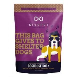 GivePet Doghouse Rock Bacon, Peanut Butter & Banana Dog Treat, 12-oz