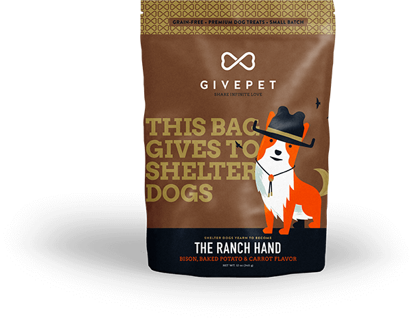 GivePet The Ranch Hand Dog Treat, 12-oz