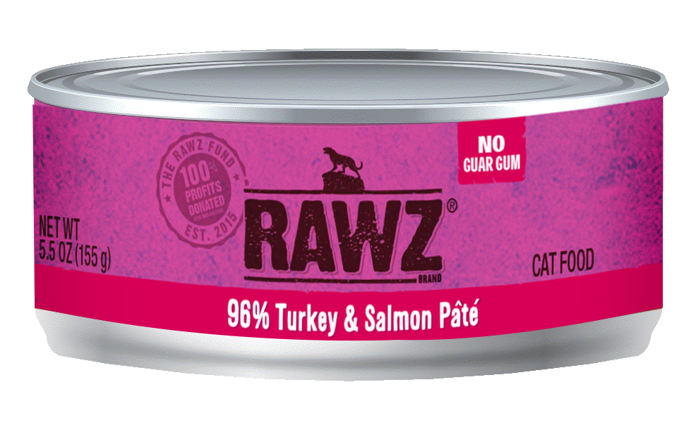 RAWZ Cat 96% Turkey & Salmon Pate, 5.5-oz