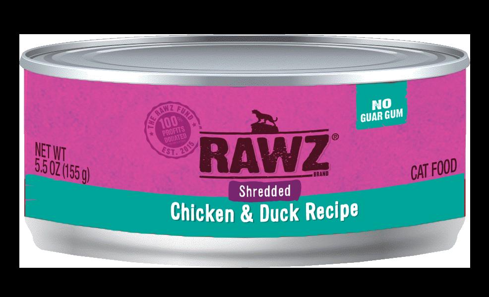 RAWZ Chicken & Duck Shredded Cat Can, 3-oz