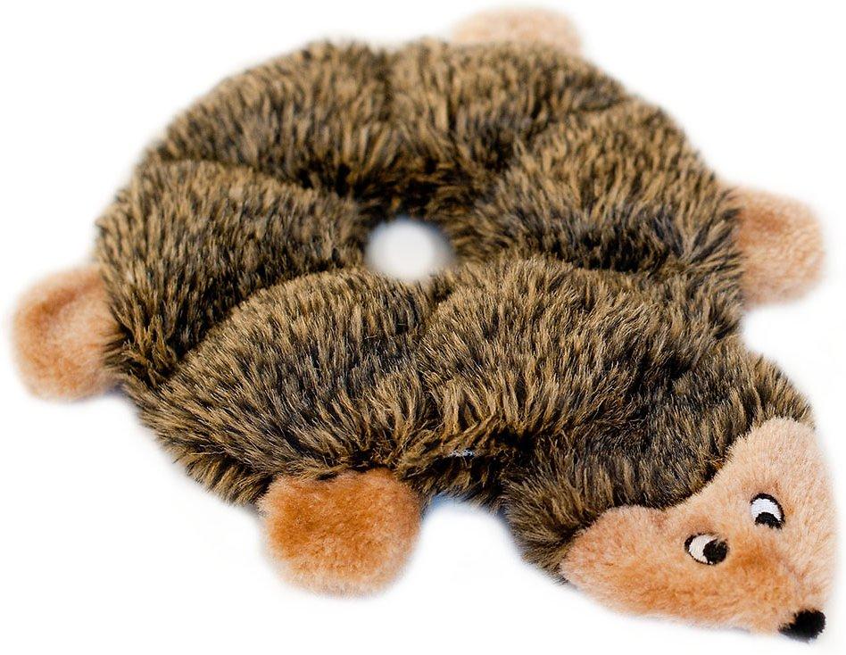 ZippyPaws Loopy Hedgehog 6 Squeaker Plush Dog Toy