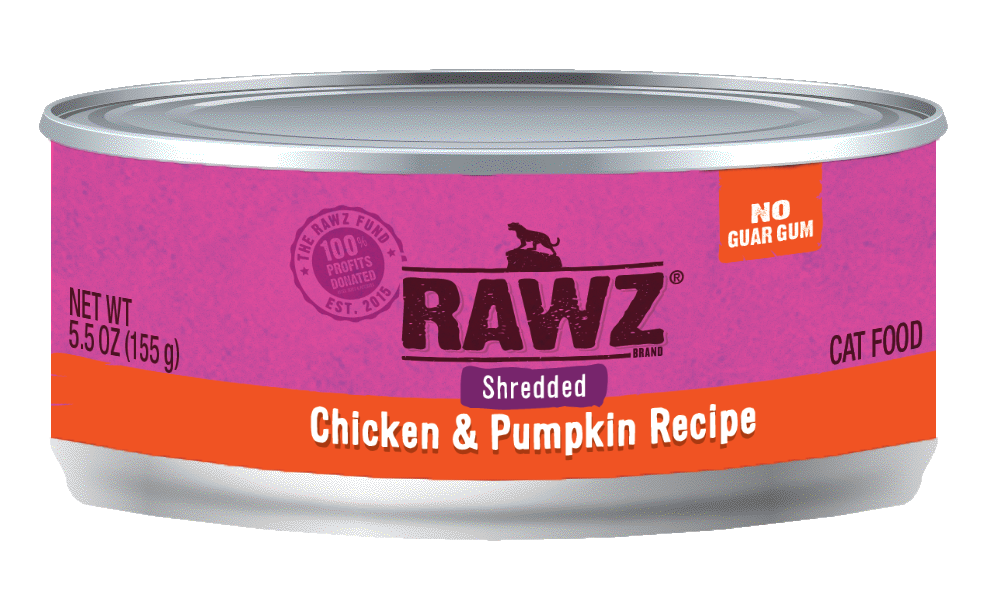Rawz Chicken & Pumpkin Shredded Cat Can, 3-oz