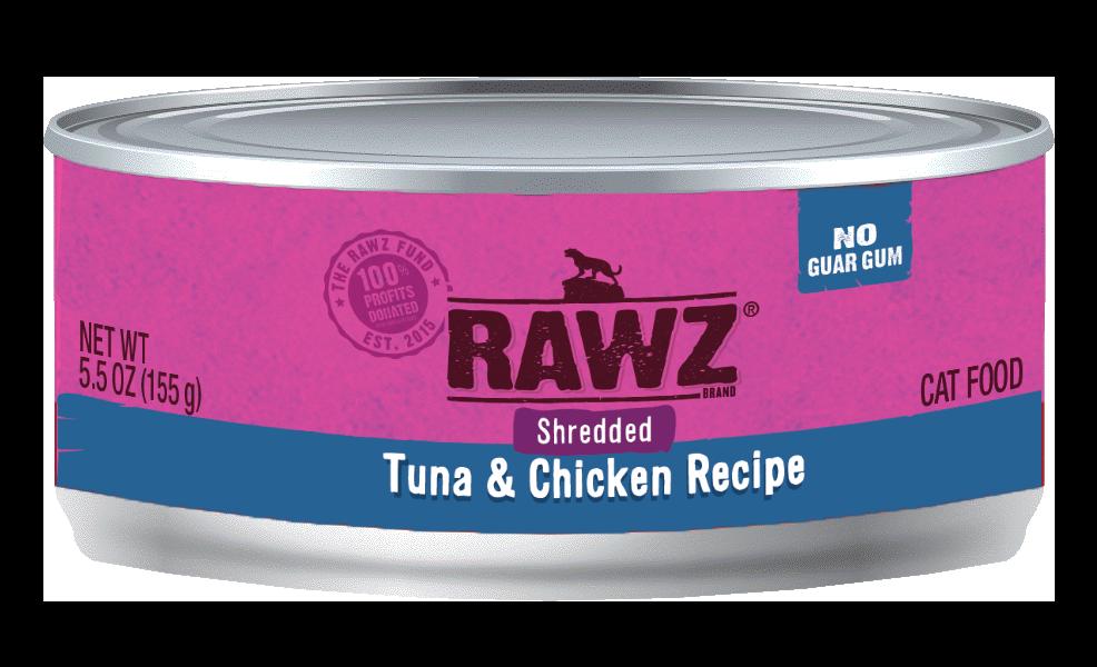 Rawz Tuna & Chicken Shredded Cat Can, 3-oz