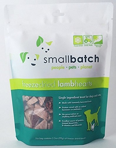 Small Batch Treats Freeze-Dried Lamb Hearts Dog Treats, 3.5-oz