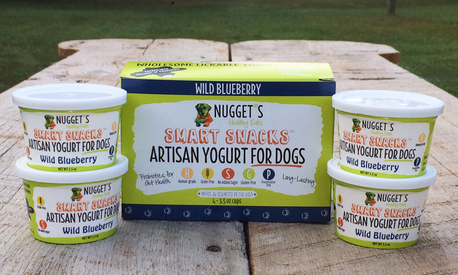 Nugget's Healthy Eats Wild Blueberry Frozen Yogurt for Dogs Image