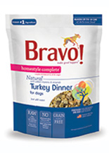 Bravo Homestyle Complete Natural Turkey Dinner For Dog, 2-lb