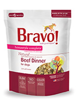 Bravo Homestyle Complete Natural Beef Dinner For Dog, 2-lb