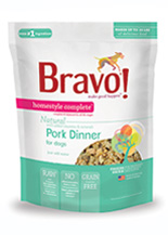 Bravo Homestyle Complete Natural Pork Dinner For Dog, 3-oz