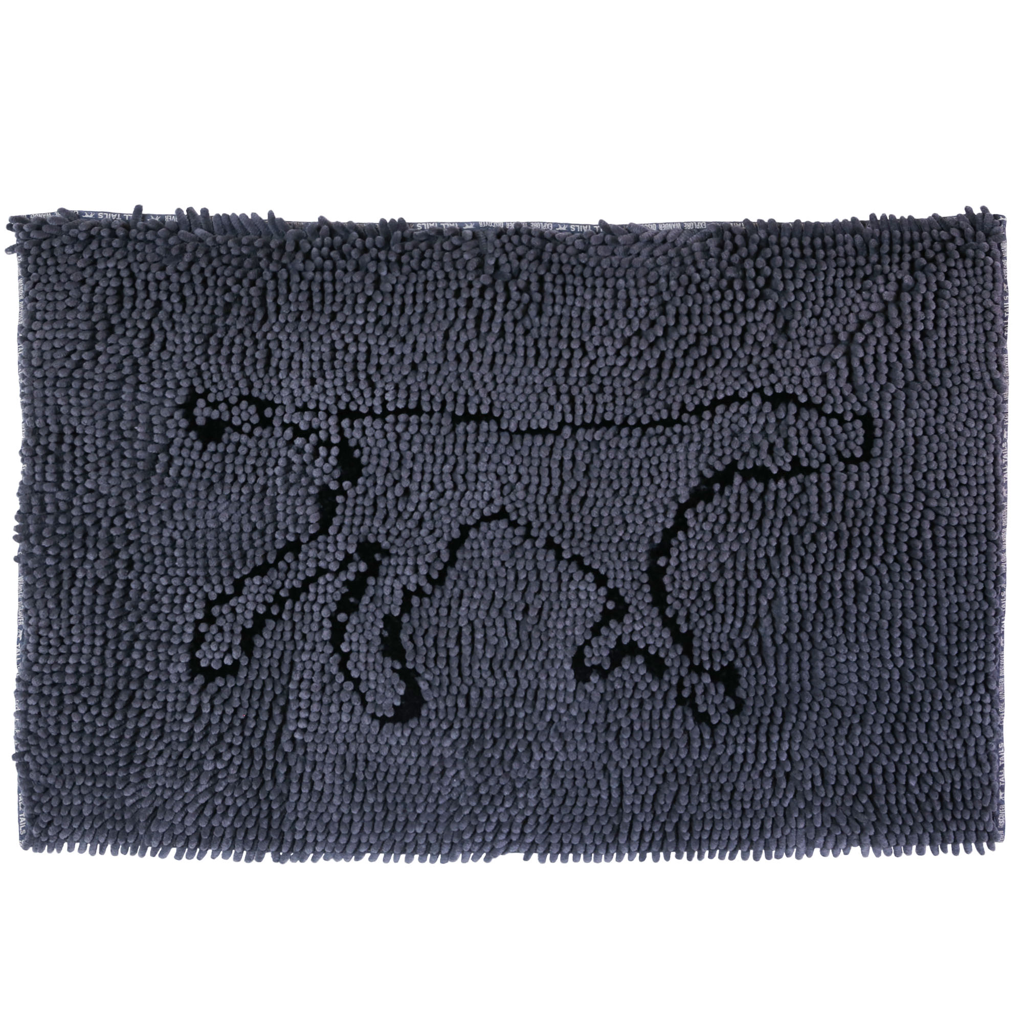 Tall Tails Wet Paw Dog Mat, Charcoal Image