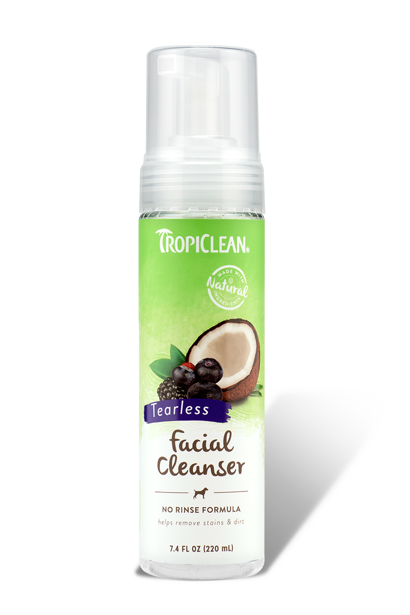 TropiClean Waterless Facial Cleanser For Pets, 7.4-oz