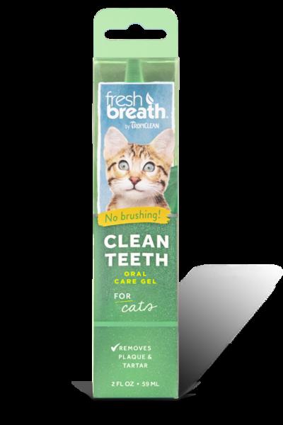TropiClean Fresh Breath Clean Teeth Oral Care Gel For Cats, 2-oz