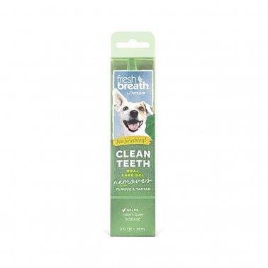 TropiClean Fresh Breath Clean Teeth Oral Care Gel For Dogs, 2-oz