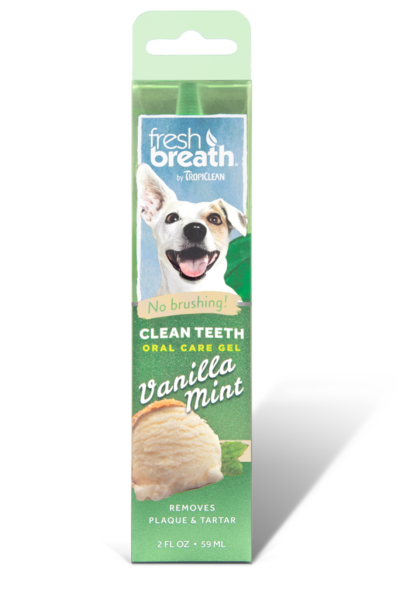 TropiClean Oral Care Gel With Vanilla Mint Flavoring For Dogs, 2-oz