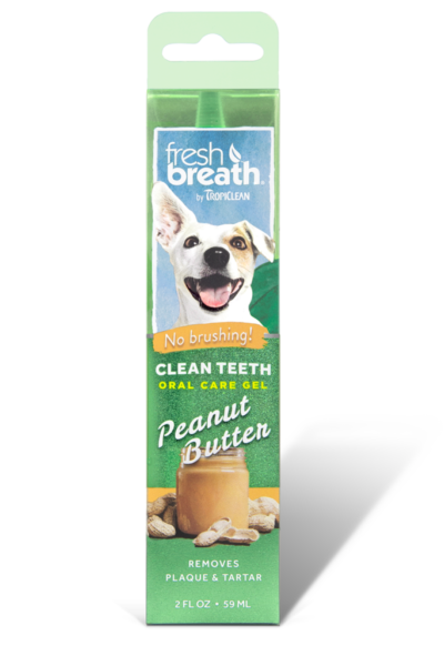 TropiClean Oral Care Gel With Peanut Butter Flavoring For Dogs, 2-oz