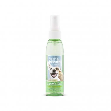 TropiClean Oral Care Spray With Vanilla Mint Flavoring For Dogs, 4-oz