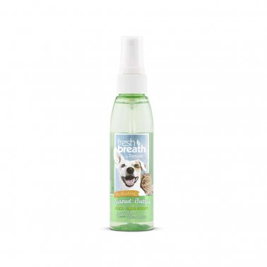 TropiClean Oral Care Spray With Peanut Butter Flavoring For Dogs, 4-oz