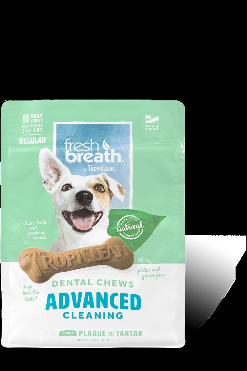 TropiClean Advanced Regular Cleaning Dental Dog Chew, 11-oz bag (Size: 11-oz bag) Image
