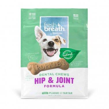 TropiClean Regular Hip & Joint Dental Dog Chew , 10-ct