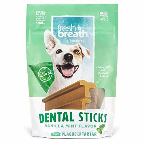 TropiClean Advanced Small Cleaning Dental Dog Stick - Vanilla Mint, 12-ct
