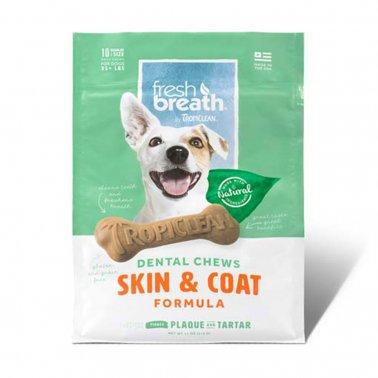 TropiClean Advanced Small Skin & Coat Dental Dog Chew, 20-ct