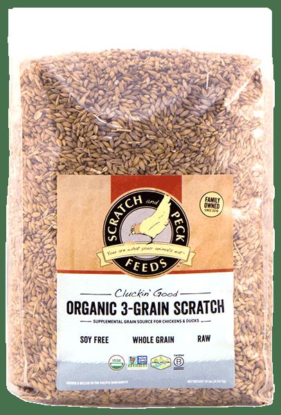 Scratch & Peck Naturally Free Organic 3 Grain Chicken Scratch, 40-lb