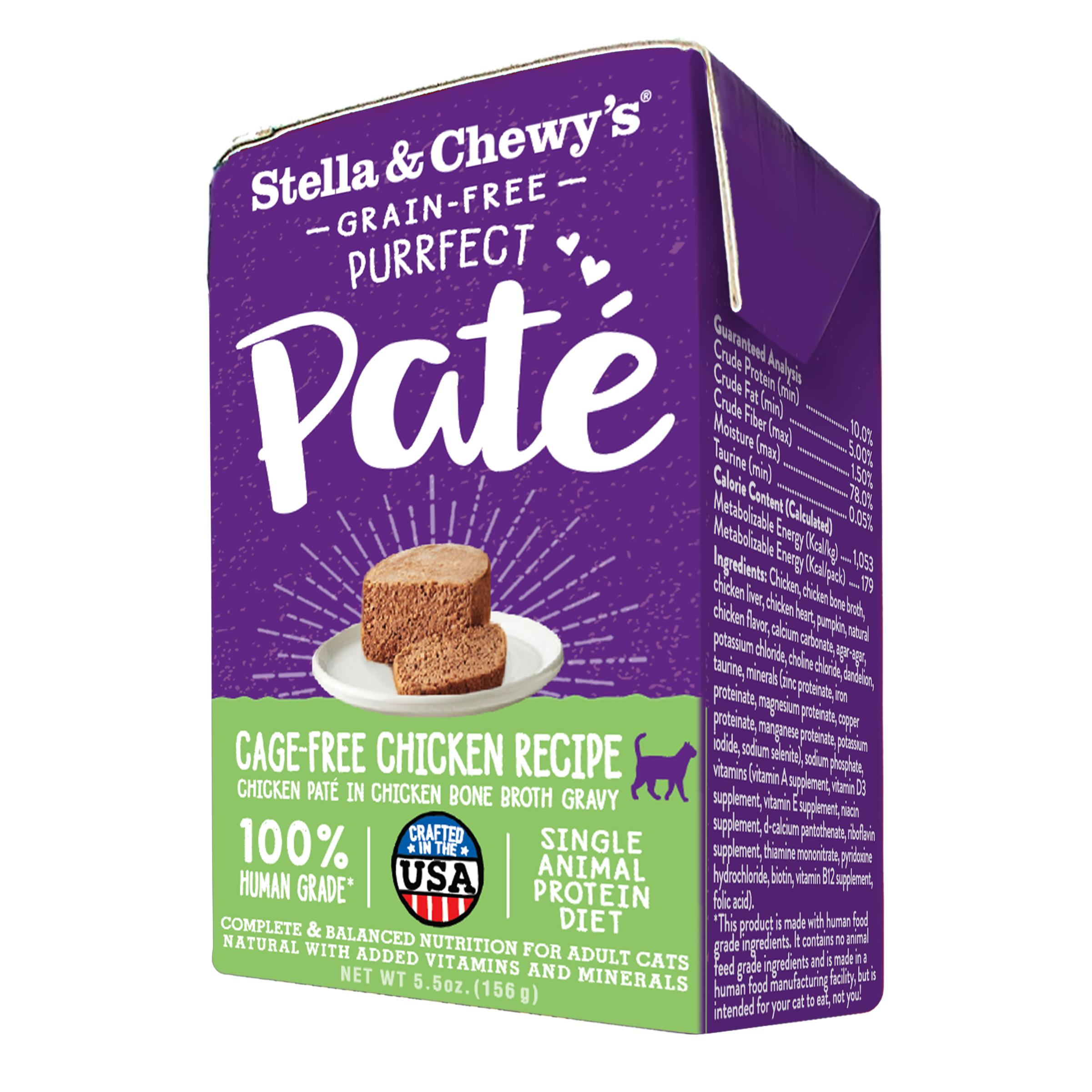 Stella & Chewy's Purrfect Paté Cage-Free Chicken Recipe Wet Cat Food, 5.5-oz (Size: 5.5-oz) Image