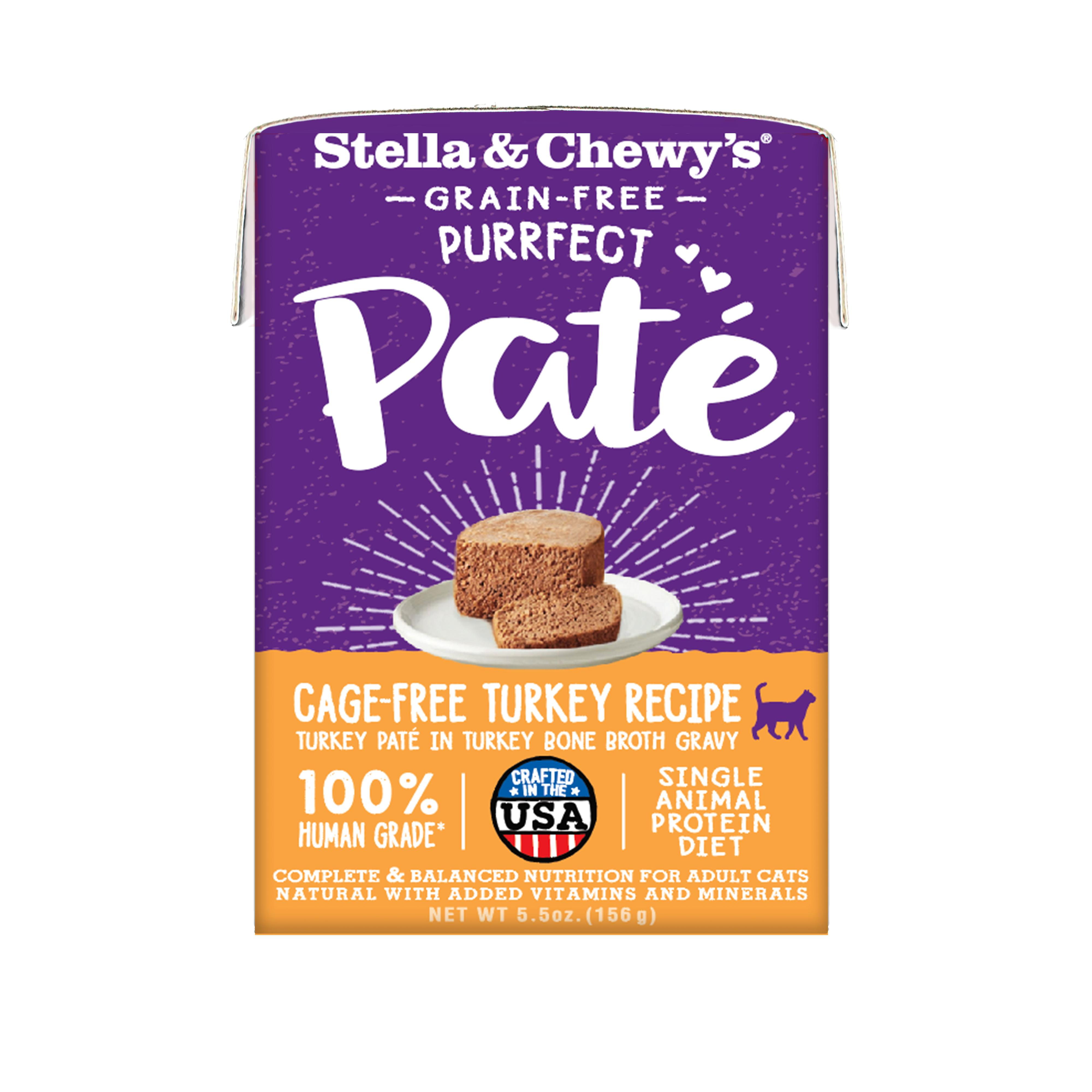 Stella & Chewy's Purrfect Paté Cage-Free Turkey Recipe Wet Cat Food, 5.5-oz (Size: 5.5-oz) Image