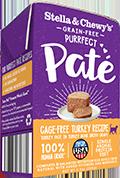 Stella & Chewy's Purrfect Paté Cage-Free Turkey Recipe Wet Cat Food , 5.5-oz